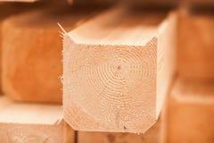 Holzen Sie industrielle hölzerne Beschaffenheit, Bauholzkolbenhintergrund ab Lizenzfreies Stockbild