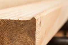 Holzen Sie industrielle hölzerne Beschaffenheit, Bauholzkolbenhintergrund ab Stockfotografie