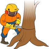 Holzfäller bei der Arbeit Lizenzfreie Stockfotografie