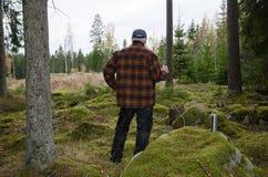Holzfällerbruch Stockbild