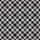 Holzfällerplaid Schottisches Muster im weißen und schwarzen Käfig Schottischer Käfig Büffelkontrolle Traditionelle schottische Ve lizenzfreie abbildung