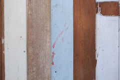 Holzfußböden sind in den verschiedenen Farben verfügbar Lizenzfreies Stockbild