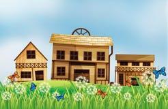 Holzhäuser vektor abbildung