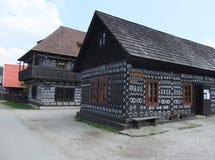 Holzhäuser lizenzfreies stockbild
