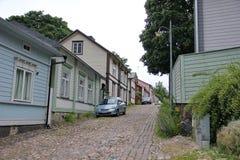 Holzhäuser porvoo Lizenzfreie Stockbilder