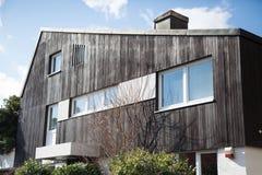 Holzhaus in Deutschland Stockfotos