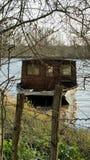 Holzhausboot stockfotos