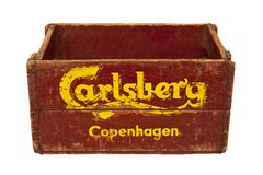 Holzkiste Carlsbergs Kopenhagen lizenzfreie stockfotografie