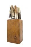 Holzkiste für Messer stockbild