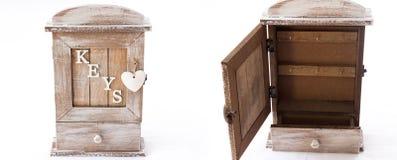 Holzkiste für Schlüssel Stockbilder