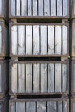 Holzkisten gestapelt Lizenzfreie Stockbilder