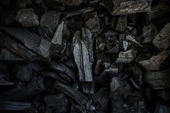 Holzkohlenbeschaffenheitshintergrund Stockfotos