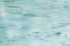 Holzoberfläche gemalt in der blauen Farbe Hintergrundbeschaffenheit des Holzes blau Lizenzfreie Stockbilder