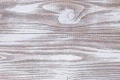 Holzoberfläche gemalt mit weißer Acrylfarbe Lizenzfreies Stockfoto