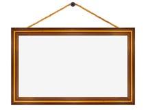 Holzrahmen, 16:9format mit großem Bildschirm Lizenzfreie Stockfotografie
