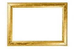 Holzrahmen gemalt mit Gold stockbilder