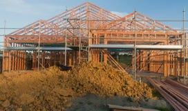 Holzrahmen im Bau von Häusern Lizenzfreie Stockfotografie