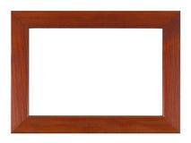 Holzrahmen lokalisiert auf dem weißen Hintergrund mit Beschneidungspfad Lizenzfreie Stockfotos