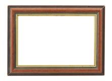 Holzrahmen mit einer inneren vergoldeten Felge Lizenzfreie Stockbilder
