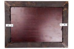 Holzrahmenrückseite Stockbild
