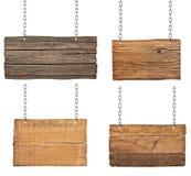 Holzschild Stockfotos