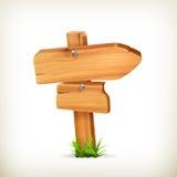 Holzschild Stockbild