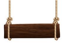 Holzschild lizenzfreie abbildung