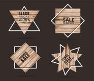 Holzschild mit Plan-Schablonenentwurf der kreativen Verkaufsfahne modernem lizenzfreie stockfotografie