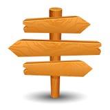 Holzschildbeitrags-Ikonensymbolaufkleber Stockbild