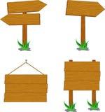 Holzschilder Stockfotos