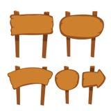 Holzschildvektor-Sammlungsdesign stock abbildung