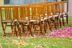 Hochzeitsempfang auf dem Garten Stockfotografie