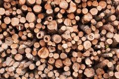 Holzstapel Stockbild