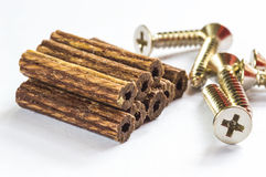 Holzstopfen Stockbild