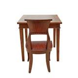 Holzstuhl und Tabelle Stockbild