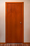 Holztür mit Metallstift Lizenzfreies Stockbild