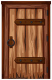 Holztür mit schlechter Zustand vektor abbildung