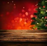 Holztisch für Weihnachten Lizenzfreies Stockbild