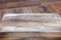 Holztisch mit hölzernem Beschaffenheitshintergrund stockfoto