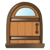 Holztür lokalisierte Illustration Lizenzfreie Stockbilder