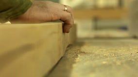 Holzverarbeitung stock footage