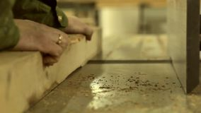 Holzverarbeitung stock video