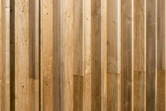 Holzwand. House wall made of poplar wood in the sunshine Royalty Free Stock Images