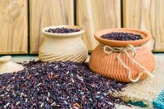 Hom zero czerni jaśminowi ryż w Thailand Obrazy Royalty Free