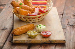 Homade Corn dog Royalty Free Stock Photography