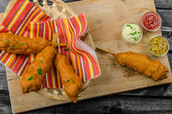 Homade Corn dog Royalty Free Stock Images