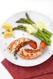 homarów piec na grillu ogony Zdjęcia Royalty Free