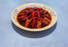 Homard avec la saveur chinoise Image stock