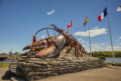 Homard du ` s du monde le plus grand - Shediac photographie stock