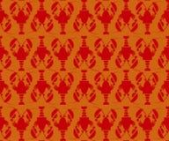 Homard rouge plat Photos libres de droits